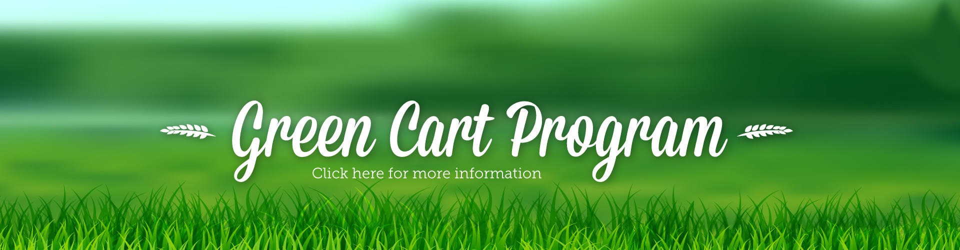 Green Cart Program - banner