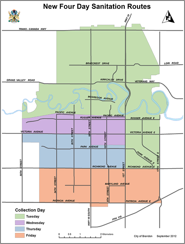 Map Of Brandon Mb City of Brandon   Collection Schedule / Maps Map Of Brandon Mb